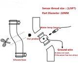 Adapter watertemp. sensor tussen waterslang 32 mm zwart_7