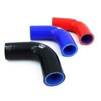 32 mm siliconen slang bocht 90 graden blauw voor koelsysteem