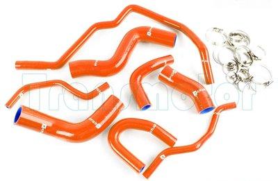 Silicone slangenset 2H, PF, PB donker oranje