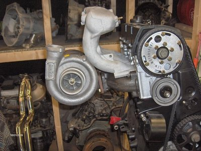 8V turbo uitlaatspruitstuk T25