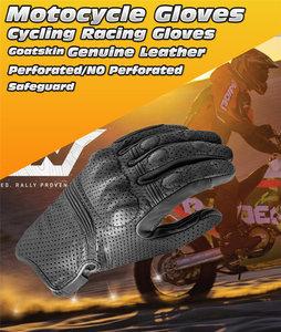 Superbike motorhandschoenen zwart leer maat XXL