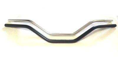 Stalen superbike stuur zwart 22 mm 80 cm breed